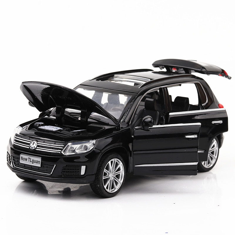 Diecast 1:32 Scale Cars Metal Model Sound And Light Pull Back Children Toys For Volkswagen Tiguan Children's Cars Kids Toy #ZW