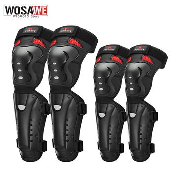 WOSAWE 4 sztuk motocyklowe ochraniacze na kolana i łokcie portective Motocross do jazdy na wrotkach na kolano ochraniacze ochronne do jazdy konnej koła zębate ochraniacze ochraniacze tanie i dobre opinie CN (pochodzenie) MO359-HX MO359-HZ