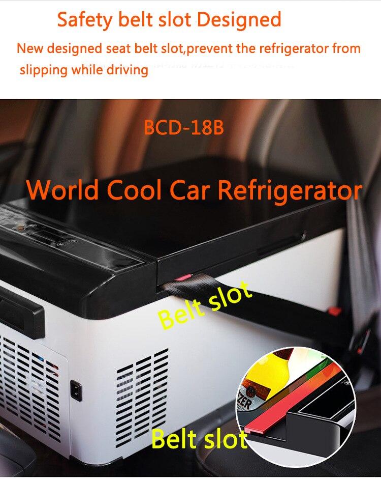 18L автомобильный холодильник, автомобильный морозильник, охладитель AC/DC12V24V, портативный мини-холодильник, компрессор, автомобильный холодильник, автомобильный холодильник для 4x4Camping