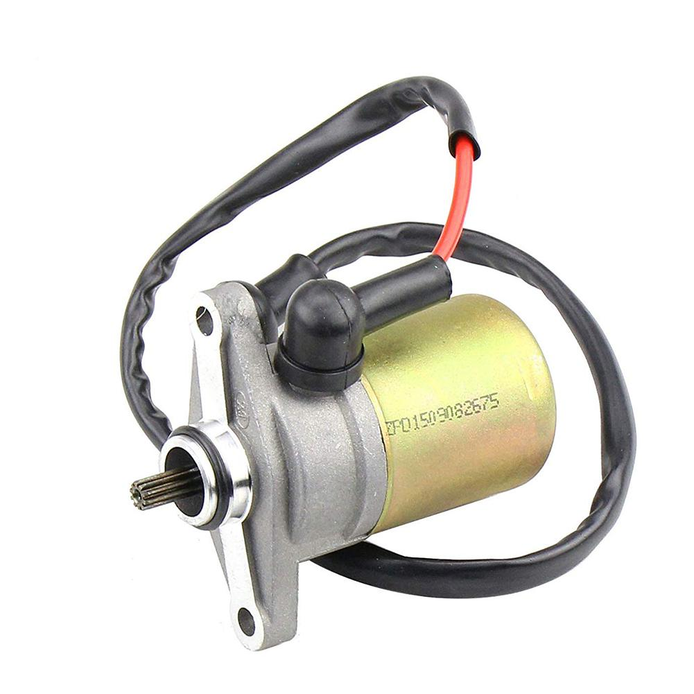 Motorcycle Electric Starter Motor Assy <font><b>GY6</b></font> <font><b>GY6</b></font> <font><b>50cc</b></font>-80cc <font><b>Engine</b></font> <font><b>Parts</b></font> Motorcycle Electric Starter Motor Accessories image