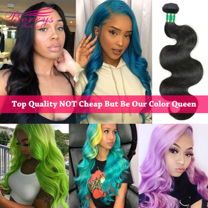 [Berrys Fashion] Top 10A Grade Brazilian Hair Body Wave 1/3/4 PCS Human Hair Bundles Natural Color Double Weft Hair Extensions(China)