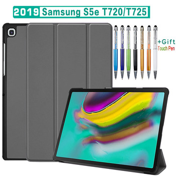 """Magnetic Folding Stand Cover Case For Samsung Galaxy Tab S5 E S5e 10.5"""" SM-T720 T725 PU Flip Leather Case For Samsung S5E T725C"""