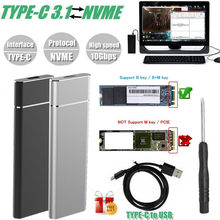 лучшая цена 2019 Brand New Style M.2 NGFF to USB 3.1 Type-C SATA SSD Converter Adapter Enclosure Case 10Gbps