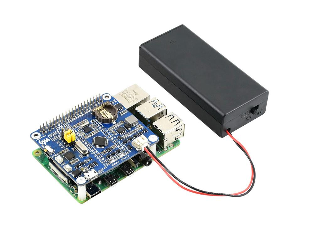 Waveshare Power Management HAT For Raspberry Pi With Embedded ATmega328P MCU And PCF8523 RTC Chip