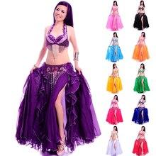 Profesyonel Yetişkin Oryantal Dans Kostüm Seti Sutyen Kemer Uzun Etek Bellydancing Elbise Kadın Hint Karnaval Kostüm Satış ile Ücretsiz Kargo