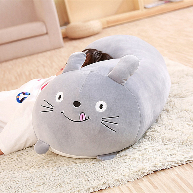 New Soft Animal Cartoon Pillow Cushion Cute Fat Dog Cat Totoro Penguin Pig Frog shiba Plush