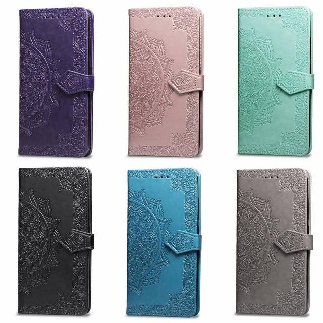 Étui à rabat Pour Samsung Galaxy J1 J2 J3 J7 J5 2017 A6 A7 A8 J4 J6 Plus 2018 A10 A30 A40 A50 S10 PU Portefeuille En Cuir Sacs de Couverture de Coque