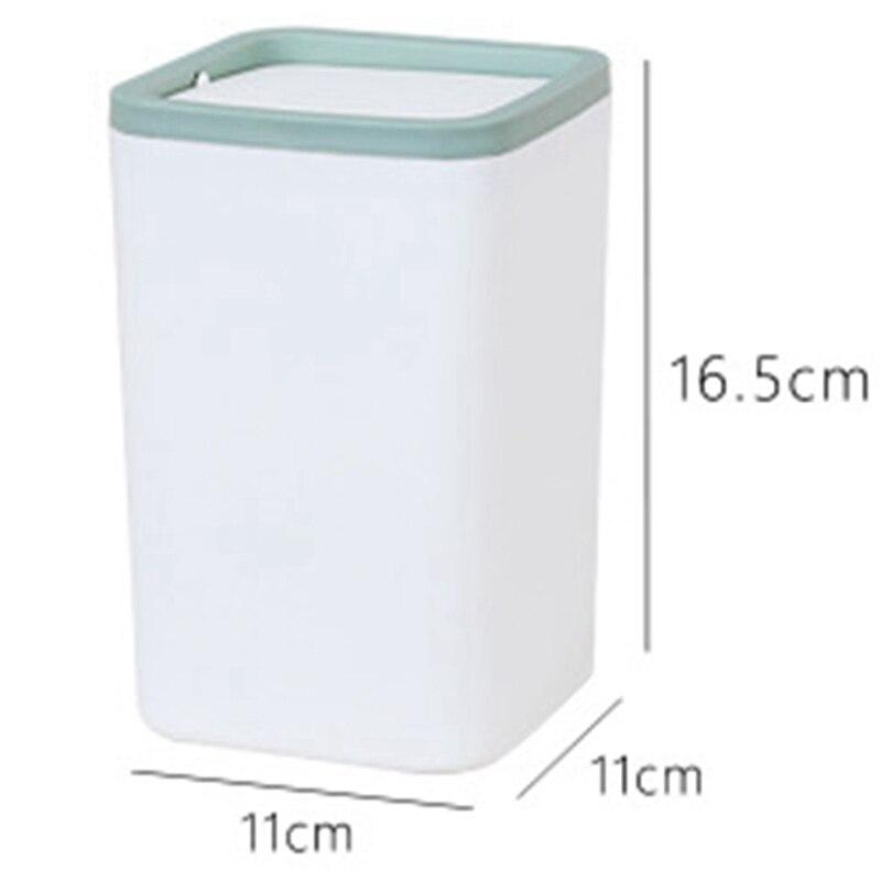 Ev ve Bahçe'ten Atık Kovaları'de Sıcak satış çöp kutusu küçük çöp tenekesi Mini masaüstü Ashcan masa Trashbox masa araba çöp kutusu yeşil title=