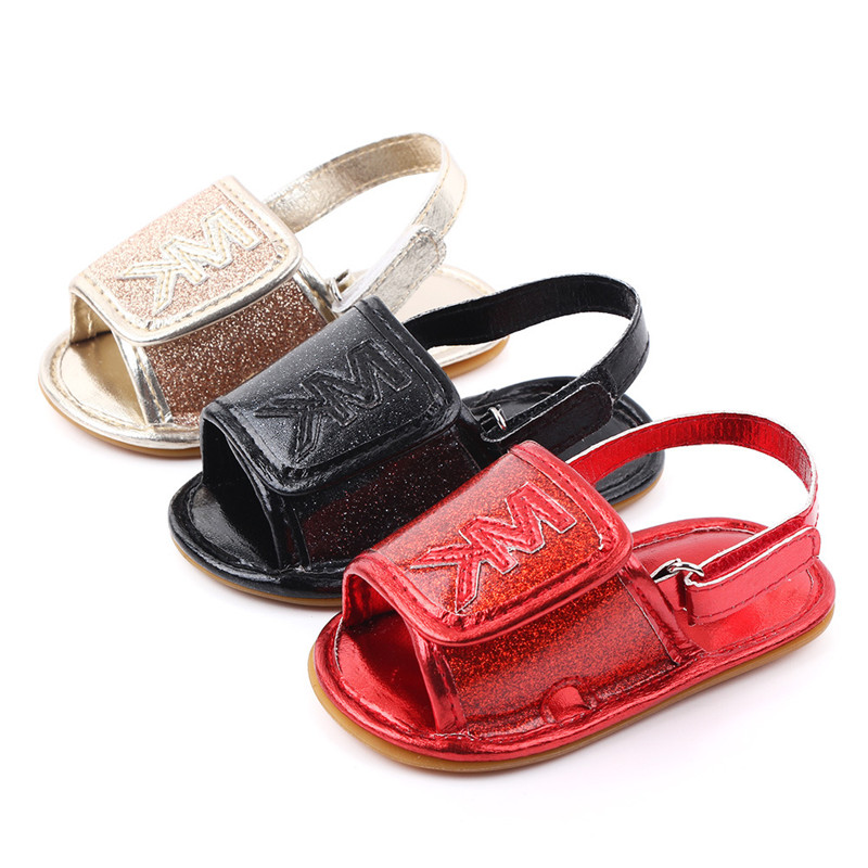 Fashion Baby Summer Shoes Soft Rubber Sole Newborn Sandals Fashion Breathable Infant First Walkers