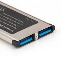 34 High Full Speed Express Card Expresscard to USB 3.0 2 Port Adapter 34 mm Express Card Converter 5Gbps Transfer rate (5)