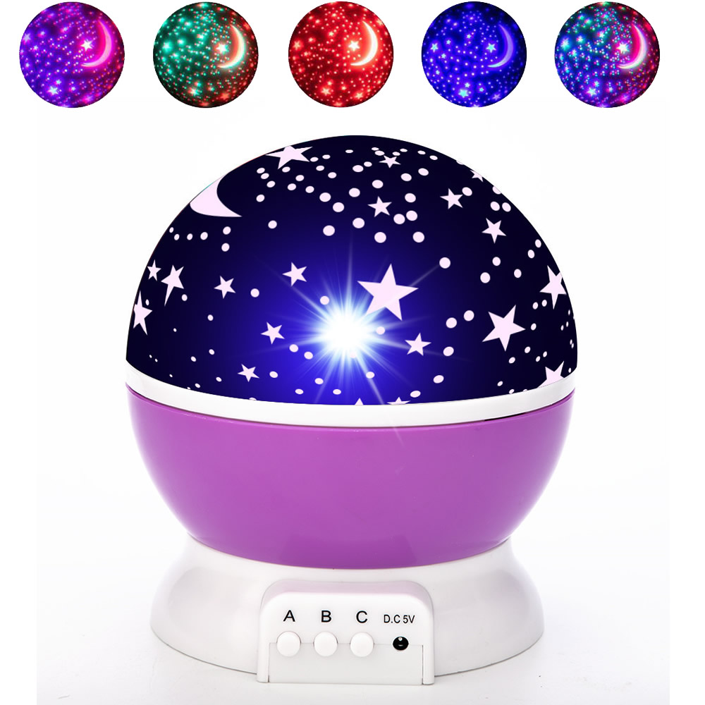 LED Night Light Projector Starry Sky Star Moon Master Children Kids Baby Sleep Romantic Colorful Led Projection Lamp Sky Master