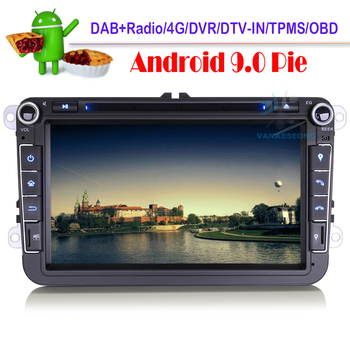 "8"" Android 9.0 Bluetooth Car Multimedia GPS Navi DVD CD DAB Autoradio Car Radio For VW Polo MK5 6R GTI Amarok Bora Jetta EOS"