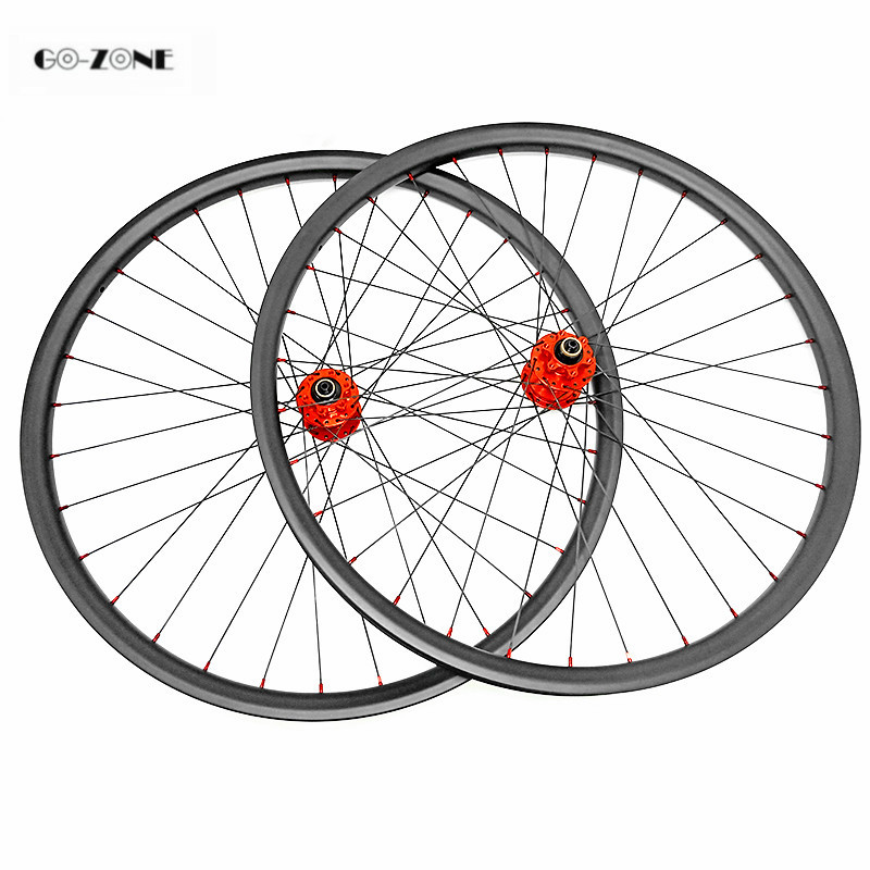 27.5inch asymmetric mountain disc carbon wheels tubeless XC/AM 35x25mm with HOPE 4 boost 110x15 148x12 CN424 mtb bike wheelset