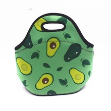 3D Print Neoprene Lunch Box Bag for Women Student Thermal Insulated  Bags Cooler Insulation Food