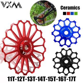 VXM rowerowe koło ceramiczne aluminiowa przerzutka tylna 11T12T 13T 14T 15T 16T 17T przewodnik MTB szosowe ceramika łożyska koło kopiujące tanie i dobre opinie Bicycle Ceramics Rear Derailleur CN (pochodzenie) 27 ustawień prędkości 11T 12T 13T 14T 15T 16T 17T Przerzutki Other