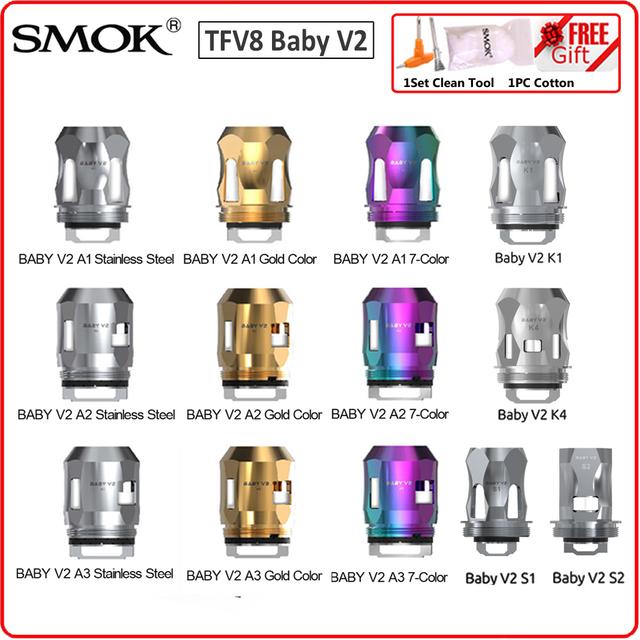 Oryginalny SMOK TFV8 dla dzieci V2 A1 A2 A3 S1 S2 K1 K4 głowica cewki wersja 2 ośmioosobowy rdzeń dla V8 dla dzieci V2 Atomizer gatunków Mag uchwyt Vape