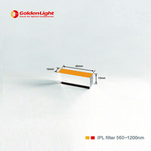Size : 45*10*15 , coated side : 45*10mm / quartz crystal IPL/E-light / SHR filter with wavelength : 560/595/640/750nm~1200nm