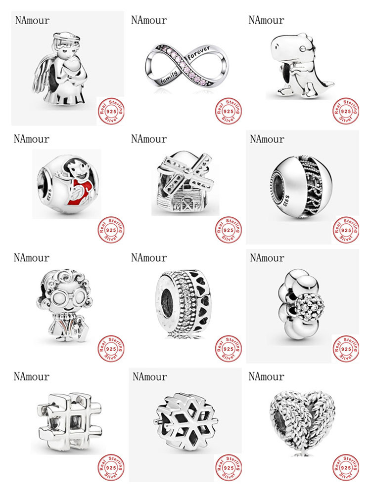 New angel of love Windmill diy fine Bead fit original Pandora charms 925 sterling silver Bracelet for women fashion jewelry(China)