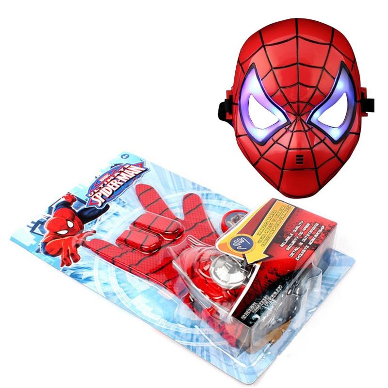 5 стилей ПВХ 24 см Бэтмен перчатка Фигурка Человека-паука пусковая игрушка для детей подходит Человек-паук косплей игрушки