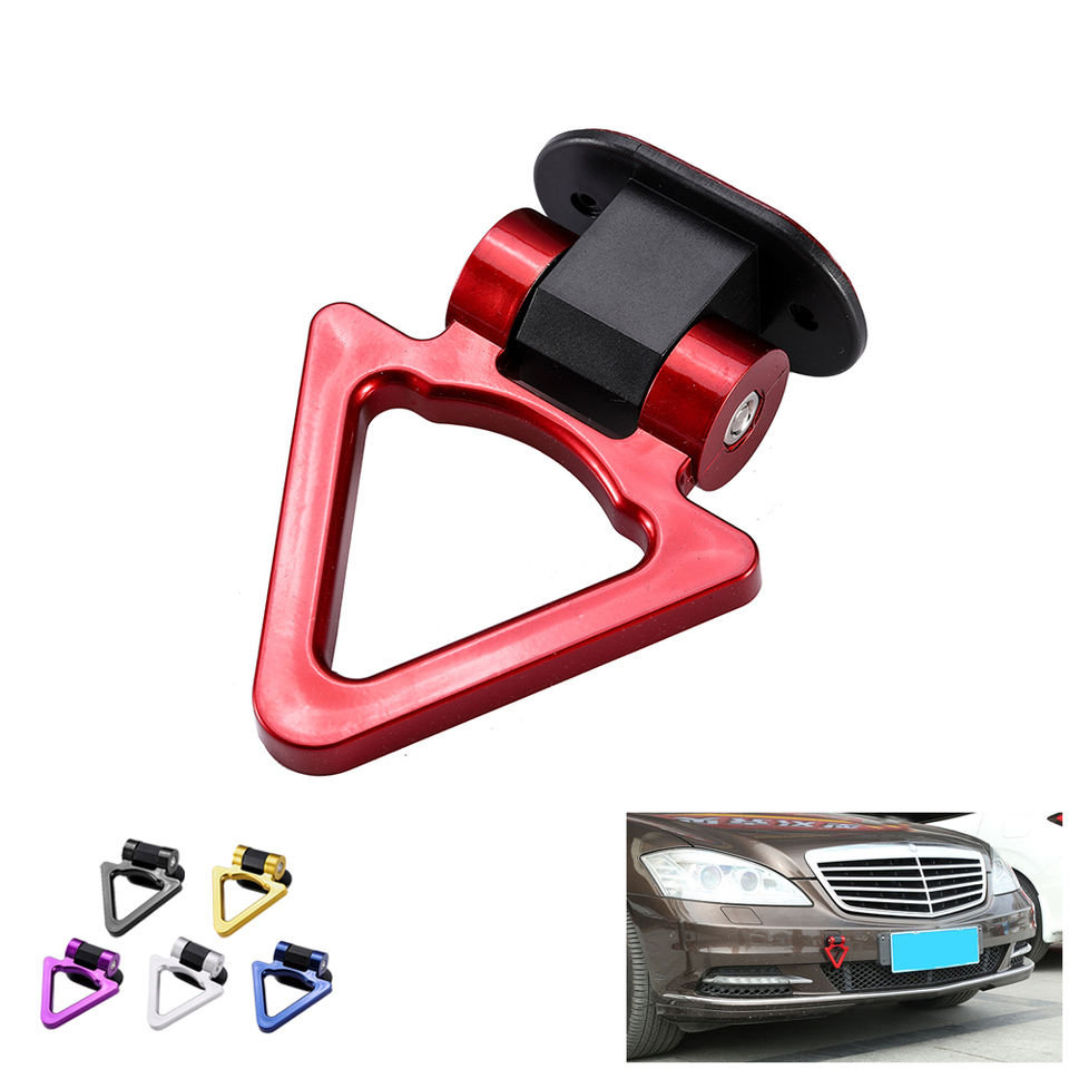 WARMAGIA Universal ABS Black Bumper Car Sticker Dummy Tralier Tow Hooks Kit Car Series of Exterior Auto Accessories