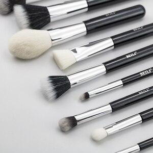 Image 3 - Beili Zwart Geitenhaar Professionele Make Up Kwasten Set Foundation Concealer Oogschaduw Blending Cosmetische Borstel Pinceaux Maquillage