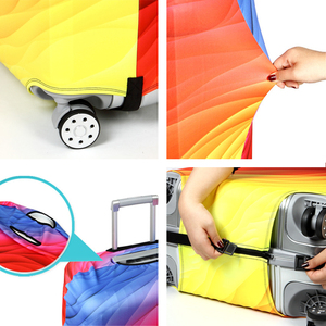 Image 5 - Elastic Travel Luggage Cover Dustproof Protective Travel Suitcase Cover For 18 32 Inch Trolley Bag Case Luggage Accessories