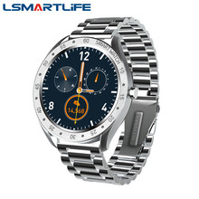 F13 homens relógio inteligente tela de toque completa esportes monitor freqüência cardíaca pedômetro à prova dwaterproof água aço inoxidável negócios smartwatch