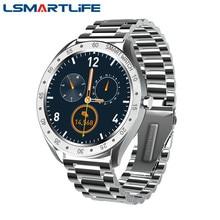 F13 الرجال ساعة ذكية شاشة تعمل باللمس كامل الرياضة مراقب معدل ضربات القلب عداد الخطى مقاوم للماء الفولاذ المقاوم للصدأ الأعمال Smartwatch