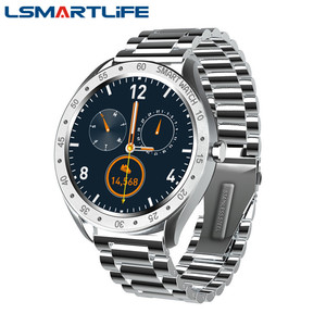 Image 1 - Reloj inteligente F13 de acero inoxidable para hombre, reloj inteligente deportivo completamente táctil, con control del ritmo cardíaco y Contador de pasos