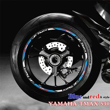 New Reflective Waterproof Sticker for Yamaha TMAX530 Modified Decorated Wheel Hub Ring Steel Motorcycle Ring