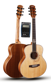 38 inch gsmini Solid guitar With Solid Spruce top /Mahogany Body With Full size Body,Electric guitarras with pickup tuner top quality gyhl 0009 headless blue color ash wood body with f hole quilted maple veneer cover active pickup electric guitar