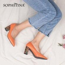 Туфли лодочки женские кожаные ручной работы на каблуке c729