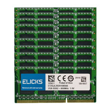 Elicks 10 pces lote 2gb PC2-6400S ddr2 800mhz 200pin 1.8v SO-DIMM ram memória do portátil