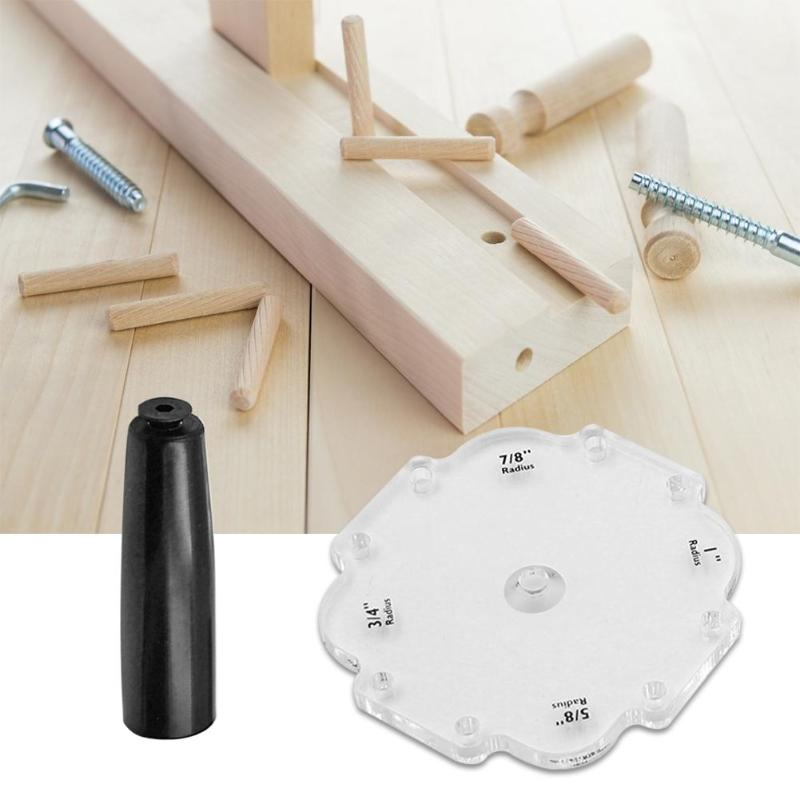 Radius Quick Locator Router Table Bit Angle Corner ABS Practical And Durable Jig Templates Wood Routers Jig Kit 120X120X10mm