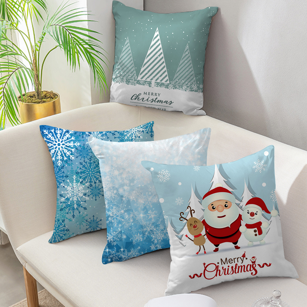 Fuwatacchi Christmas Pillow Case Deer Tree Pillows Cover Winter Style Cushion Cover Snow Throw Pillows Home Decor for Sofa Car