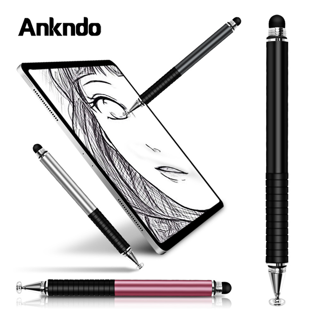 Universal 2 in 1 Stylus Drawing Tablet Pens Capacitive Screen Caneta Touch Pen for Mobile Android Phone Smart Pen Accessories