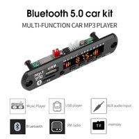Kebidu rádio bluetooth 5.0, 5v ou 12v, sem fio, kit automotivo, módulo fm, reprodutor mp3, placa decodificadora, usb, 3.5mm, aux, universal
