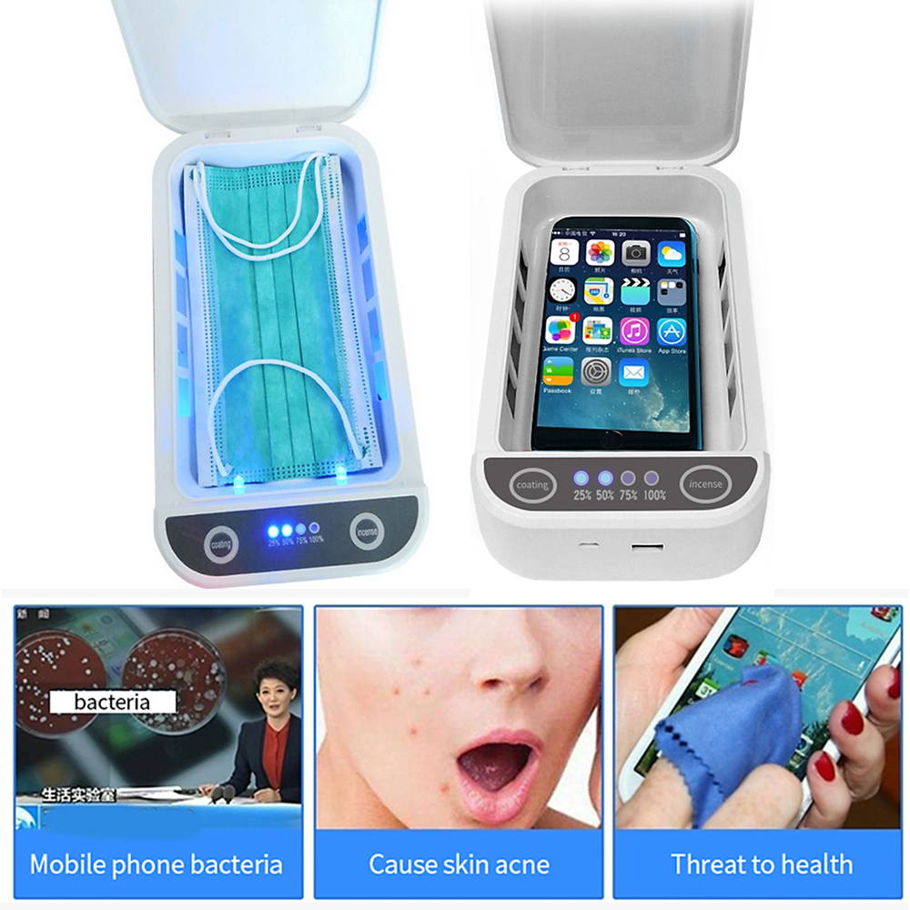 Multifunctional UV Sterilizer Box UV Light Disinfection Sanitizer for Mask Phone Toothbrush Jewellery Underwear Sterilizer Box
