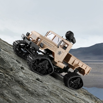 Fy001 1/16 2.4G 4Wd Rc Car 720P 0.3Mp camera Wifi Fpv Brushed Off-Road Military Truck W/ Led Light VS WPL WLtoys Crawler Model