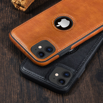 Solid Color PU Leather Phone Case For iPhone 12Pro 11 12 Pro Max XR XS Max X 7 8 6 Plus 12Mini 11Pro Max 11 Slim Soft Back Cover 1