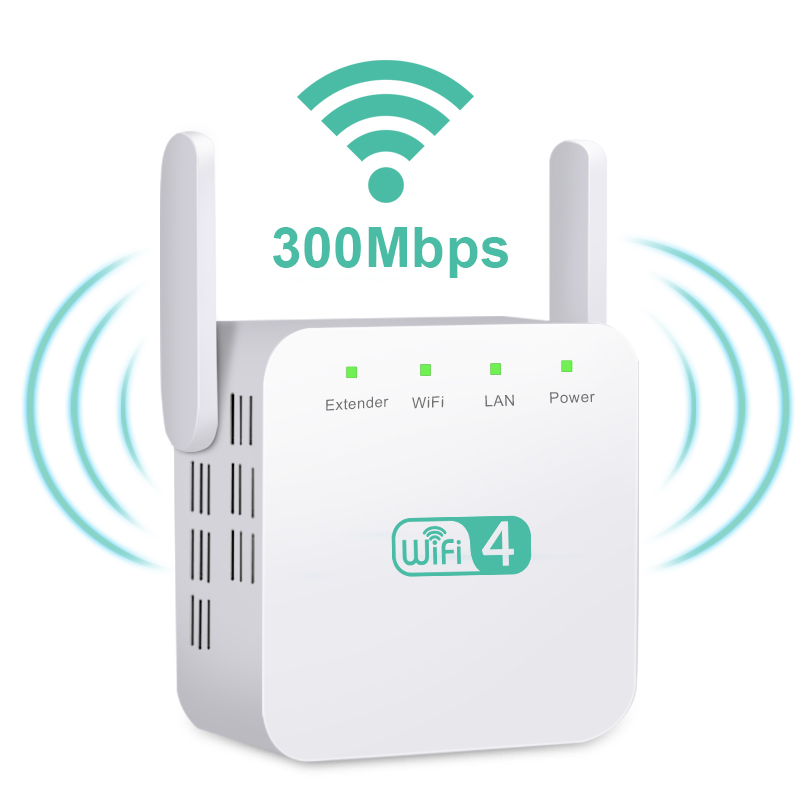 Wireless WiFi Repeater Wifi Extender 300Mbps Wi-Fi Amplifier Long Range Wi Fi Signal Booster Wi Fi Reapeter Access Point