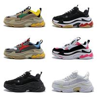 Fashion Designer Paris 17FW Triple S Sneakers for Men Women Black Red White Green Casual Dad Shoes