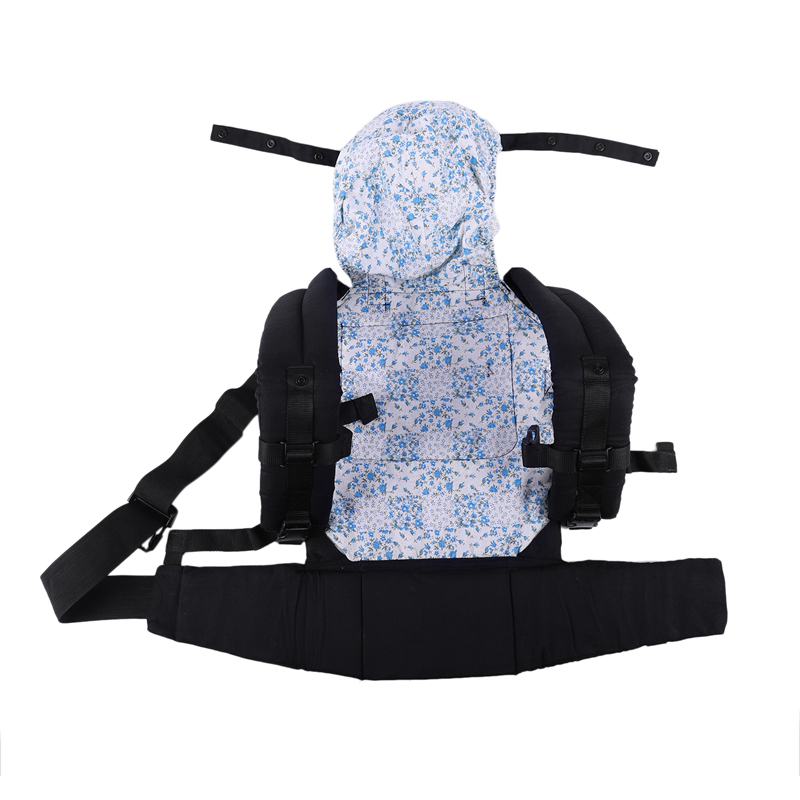 Hot-Baby Toddler Kids Ergonomic Breathable Adjustable Carrier With Hood Dukung Bayi Blue