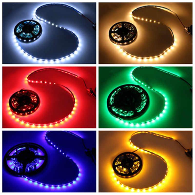 DC 12 V V taśma oświetleniowa LED taśma 2835/5050 RGB wodoodporna 1-10 M 60LED/M RGB taśma LED lampa diody elastyczne podświetlenie TV