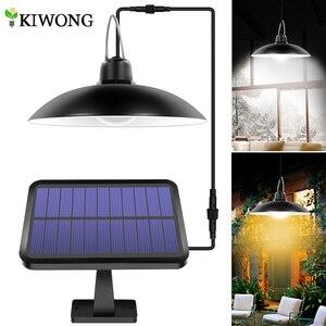 Image 1 - סככת שמש אורות חיצוני מקורה 16 LED שמש תליון אור מנורה לקמפינג תאורה עמיד למים עבור גן חצר קישוט