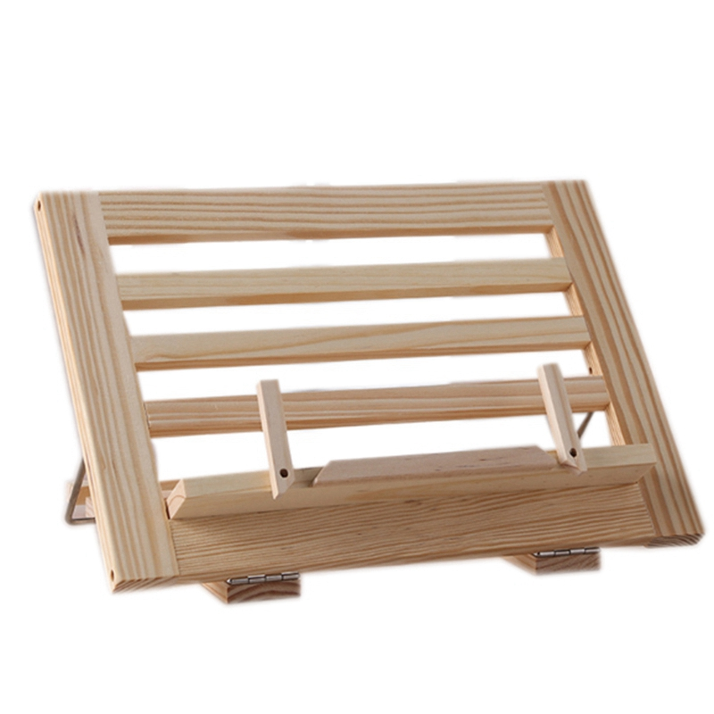 Wooden Frame Reading Bookshelf Bracket - Book Reading Bracket Tablet Pc Support Music Stand Wooden Table Drawing Easel