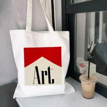 Arte estética harajuku bolsa de ombro da lona das mulheres sacos de compras studentsbag saco de livro bolsas tote para meninas ulzzang
