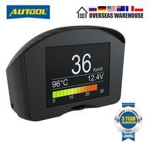 AUTOOL X50Plus Multi Function OBD Car Head up Indicator Digital Obd 2 HUD Meter Auto Alarm Water Temperature Gauge Speed