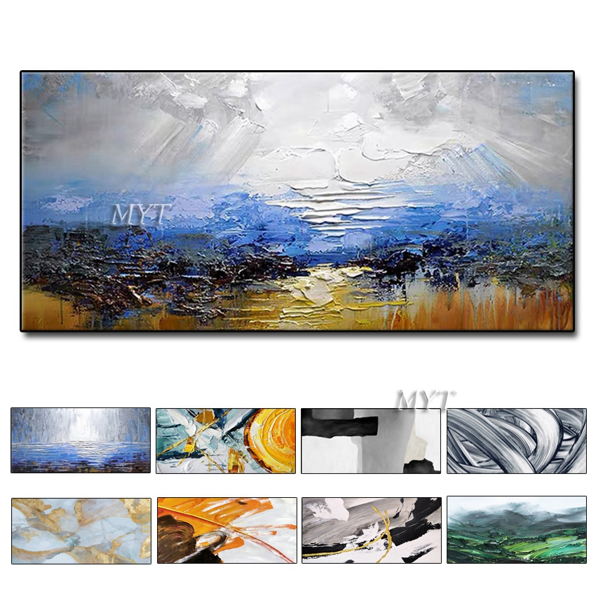 Painting Knife Painting Oil Painting, Abstract On Canvas 100% Manual Art Modern Art Living Room Wall Decoration