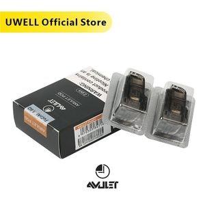 UWELL amuleto rellenable Pod 2 unids/paquete 1,6 ohm cabeza de bobina 2ml capacidad cigarrillo electrónico vaporizador Pod Vape VS Caliburn